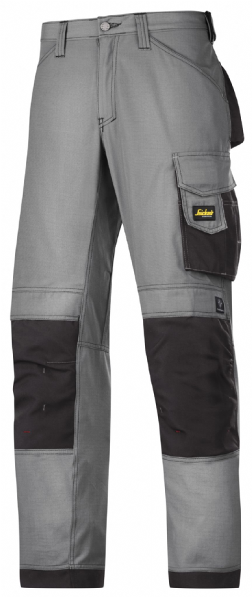 Snickers 3313 Rip-Stop Craftsmen Trousers (Grey/ Black)
